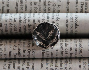 Ring cabochon Black Lace