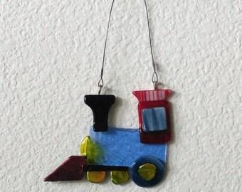 Train Suncatchers-Suncatchers-Trains-Stained Glass Suncatcher-Nursery Decor-Home Decor-Childrens decor