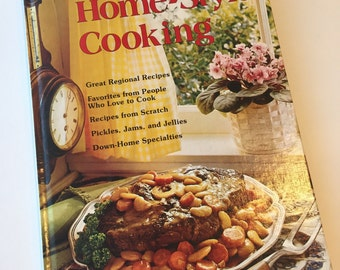 Vintage Cookbook - Better Homes and Gardens - Home Style Cooking - 1970s Cookbook - Vintage Kitchen - Recipe Collection - Hardcover Cookbook