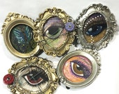 Original Small Watercolor Lover's Eye Painting