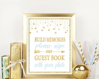 twinkle twinkle little star sign our guest book printable guest book sign please