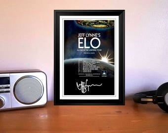 Jeff Lynne Electric Light Orchestra Alone In The Universe Concert Tour Flyer 2016 Autographed Signed Photo Print