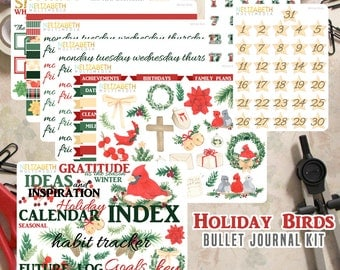Holiday Birds - Bullet Journal Kit