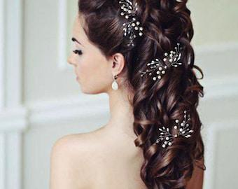 Wedding hair pins,hair vine,pins, Bridal hair pins, Bridal headpiece,Bridal hairpiece Wedding hair