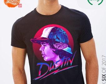 Unisex/Mens:  Dustin T Shirt / Stranger Things Dustin / 80's Style / Strange Designs / Dustin Henderson / Sci-Fi Tee