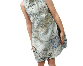 World Explorer Balloon Dress grey