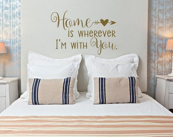 Home Is Wherever Iu0027m With You Wall Decal Quote  Family Wall Quotes