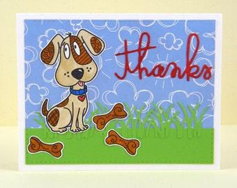Dog Thank You Card, Dog Thanks Card, Dog Thanks, Pet Thank You Card, Pet Thanks