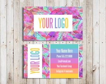 Custom Business Cards Personalized Home Office Approved Font and Colors LuLa Business Cards Digital Business Cards LLR Teams