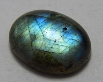 Natural Labradorite Gemstone Smooth Loose Cabochon Oval Shape Blue Power Flash Size : 15X20 MM Approx Best Quality On Wholesale Price.