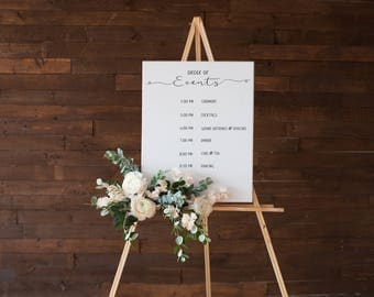 No. OE1(6) | Order of Events | 6 Event Entries | DIY | Printable and Editable | Schedule | Timeline | Sign | Poster | Wedding