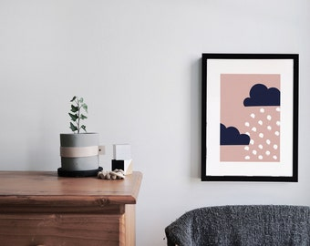 Illustrated Nursery Art Print - Cloud no. 2