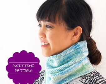 Spring cowl pattern - Neckwarmer tutorial - cowl pdf pattern - instant download - knit pattern cowl - scarf cowl pattern - seamless patterns