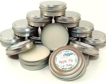 Apple Pie Lip Balm - Unsweetened - Natural Lip Balm, Beeswax Lip Balm, Lip Balm Tin, Flavored Lip Balm - Preservative, Dye Free