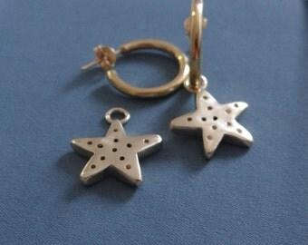 hoop earrings with starfish