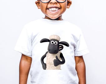 Shaun the Sheep/Kids Clothing/Shaun T-shirt/Birthday Shirt/Embroidered Shirt/Personalized T-shirt/Bert and Ernie/Shaun Sheep/Easter ShirtK11