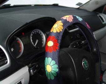 Bright steering wheel cover Car accessories Birthday gift Car decorations for woman Accessory for woman Steering wheel covers floral Decors