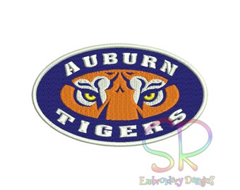 7 Size Auburn Tigers Embroidery Designs College Football Logo Embroidery Design Machine Embroidery - Instant Download