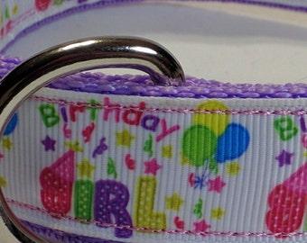 Happy Birthday Girl Dog Collar - Birthday Girl -  FREE Shipping