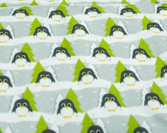 "Sweat ""Forest Pingu"" grey-green"