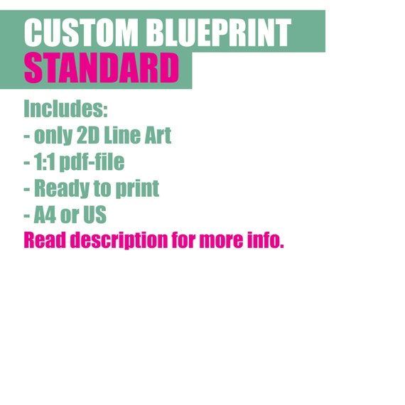 Custom blueprint commission diy props standard pattern custom blueprint commission diy props standard pattern 11 pdf 2d line art from vickyligt on etsy studio malvernweather