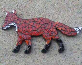 Glass Mosaic Wall Art, Fox