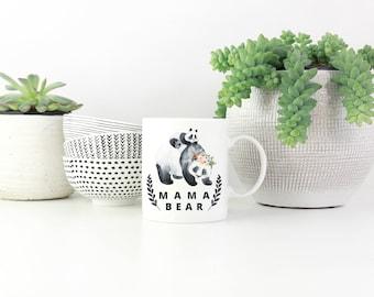 Mama Bear, Mama Bear Mug, Gifts for Mom, Mother's Day Gift, Mom Gift, Baby Shower Gift, New Mom, Mother's Day Mug, Panda Bear Mug, Cute Mug