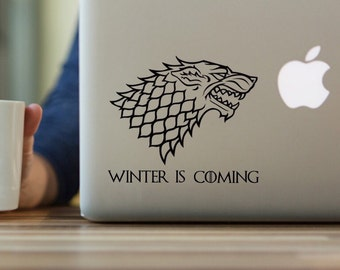 Game of Thrones Decal, House Stark Decal, House Stark Sigil, Game of Throne Banner, House Banner, Stark Decal, Yeti Tumbler decal
