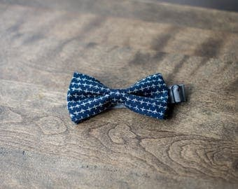Bowtie blue marine with aircraft | Bow tie for adjustable and pre-taped man | Bowtie traveler