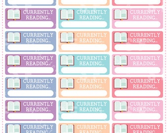 Currently Reading... Planner Stickers for Erin Condren, Happy Planner, Passion Planner (#69)