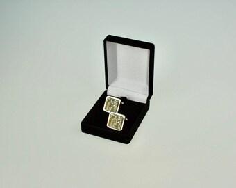 Real Gold Circuit Board / Motherboard Cufflinks - Formal Geek Cufflinks - Teacher Gifts - Nickel Plated Cuff links
