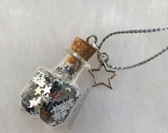 Glass bottle jewelry, vial jewelry, vial charm, vial necklace, glass bottle charm, miniature jewelry, glass bottle vial, vial pendant, vial