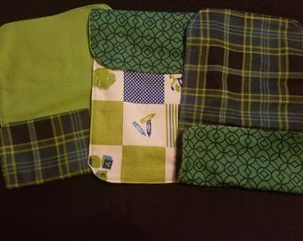 3 Handmade Flannel Burp Clothes