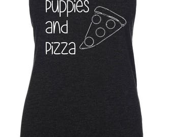 Puppies and Pizza - MORE COLORS - Women's Tank