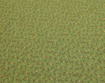 Perfectly Seasoned-Olive Green with Flowers-from Moda Cotton Fabric