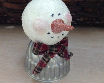 Glittered Snowman