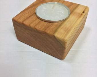 Rustic Candle Holders. Wooden Candle Holders. Live Edge Cherry Candle Holders. Tea Light Candle Holders.