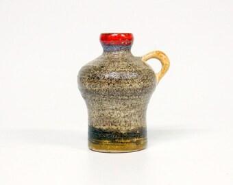 Vintage Strehla 9015 jug/vase-Retro German ceramic