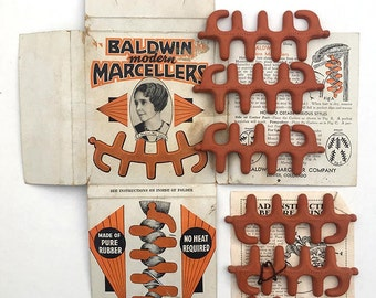 20's Baldwin Marcellers. Flapper Fingerwave Hairstyle