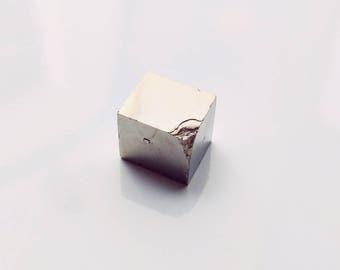 Pyrite Cube Specimen - gorgeous pyrite cube, cubic pyrite mineral specimen, rough pyrite cube, fool's gold, raw pyrite, rough pyrite