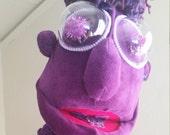 Bootsie purple hand puppet