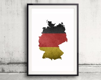 Germany Map Print - Germany Print - Germany Map Art - German Flag Wall Art - Home Decor - Germany Poster Painting - German Flag Artwork