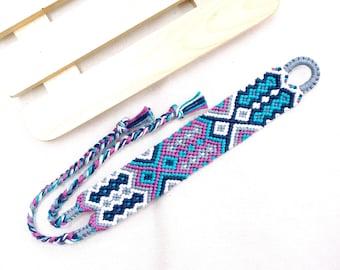 Aztec Friendship Bracelet, Boho Cuff Bracelet, Woven Hippie Bracelet, Wide Bracelet, Bohemian Jewelry, Boho Summer Bracelet, Best Gifts BFF