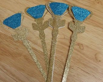 Elena Of Avalor's Scepter Favor!  Elena CenterPieces!  Elena Photobooth Prop! Set of 4-Free Shipping!