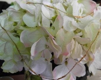 "Women's Delicate Dainty Vintage Gold Tone 53"" Long Monet Chain Necklace"