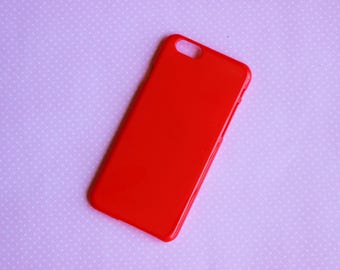 1pc Red iPhone 6 Blank Phone case for decoden FREE SHIPPING on orders over 10 dollars!