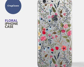 Floral iPhone 7 Case, Floral iPhone Case, Floral iPhone 6s Case, Floral iPhone 6 Case, Floral iPhone 6/7 Plus Case (Shipped From UK)