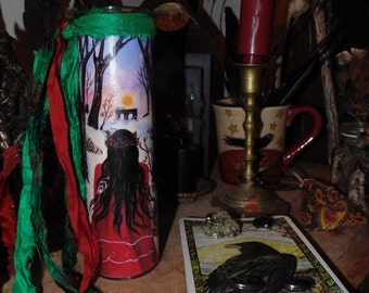 Winter Solstice, Yule Candle, Yule Ritual Candle, Spell Candle, Altar Candle, Yule Decor, Christmas Decor