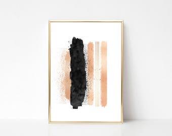 Enjoy The Silence #2,Printable Art,Printable Wall Art Print,Paint Splash Print, Pastel Color Wall Art,Digital Print,Instant Download