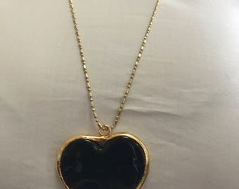 Dark brown heart necklace